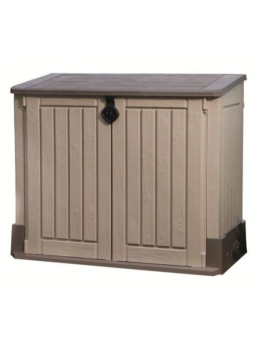 Store-it out Midi 845L fa hatású műanyag kerti tároló beige/barna  #17197253
