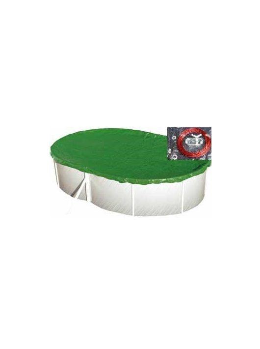 Védőtakaró ovális télitakaró 5,4 x 3,6m medencéhez