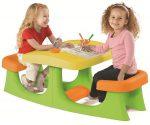 Patio Center gyerek asztal paddal zöld-sárga-narancssárga KETER