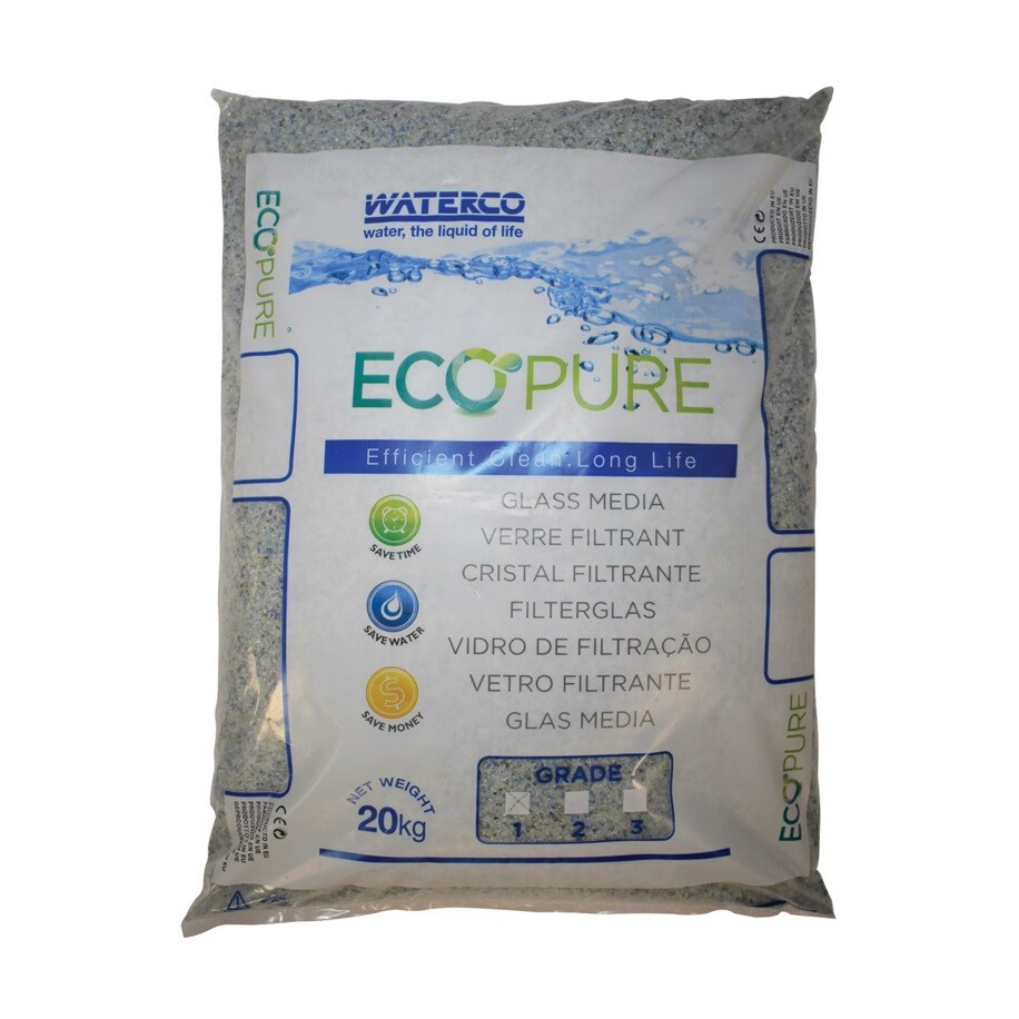 Filter glass Waterco EcoPure 0,5-1mm 25kg - Wetro medence shop
