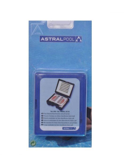 AstralPool tablettás vízelemző pH+Cl/Br 20-20 tablettával #26155