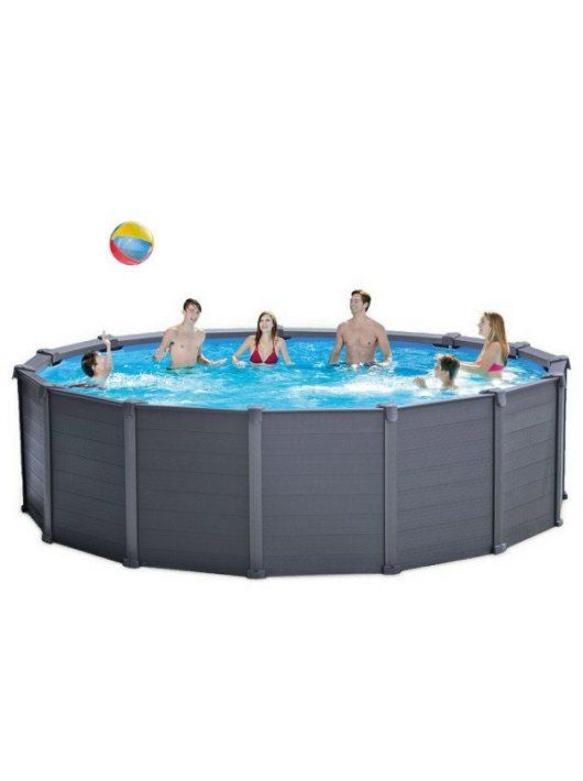 Intex medence Graphit Pool Set 478x124cm 4,5m3/h homokszűrővel #26384