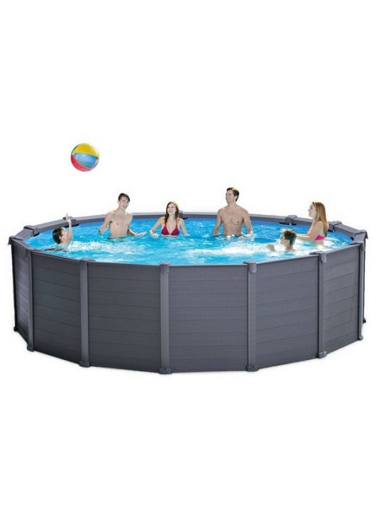 Intex medence Graphit Pool Set 478x124cm 4,5m3/h homokszűrővel #26384
