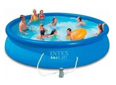 Intex medence kerek Easy Set 457x107cm 3,8m3/h papírszűrővel #26166