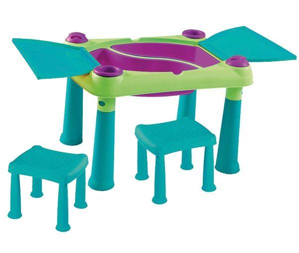 Creative Play kreatív asztal + 2 db szék kék-zöld KETER - Wetro ...
