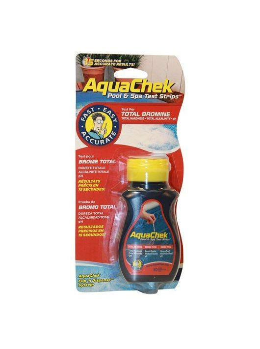 AquaChek Red medence és Spa Bróm mérő tesztcsík 50db #124