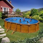 Family Eco Lux Wood pool oval 6,1x3,7m/1,2m (Liner: 0,4 mm)