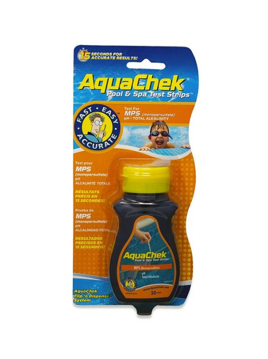 AquaChek MPS aktív oxigénes medence és Spa pH+O2 tesztcsík 50db #107