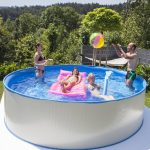 Family Eco medence 3,5x0,9m papírszűrős vízforgatóval, biztonsági létrával