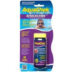 AquaChek ShockCheck medence és Spa klórmérő tesztcsík 10db #125