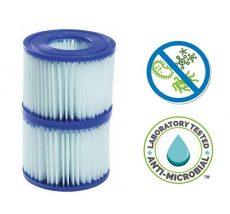 Bestway papírszűrő filter VI. typ. antibakteriális 2db Lay-Z-Spa Jacuzzi #58477