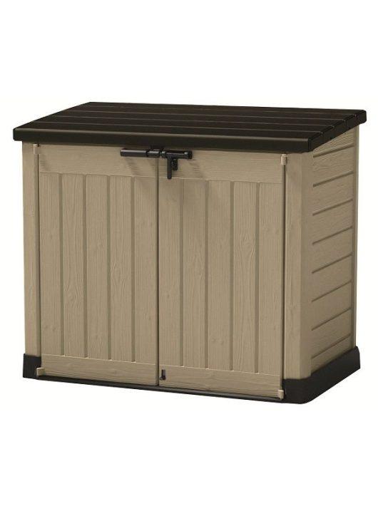 Store-it out Max 1200L fa hatású műanyag kerti tároló beige/barna 230438