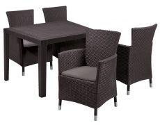 Luxury szett 4 személyes műrattan kerti bútor barna