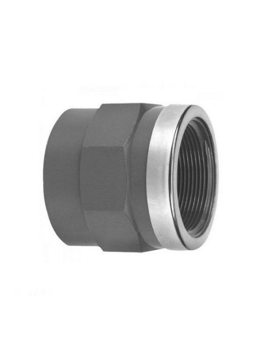 PVC Karmantyú BM 11/2 D50mm fém gyűrűvel