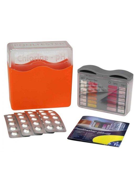Pooltester pH+klór vízelemző készlet 20-20db tablettával narancssárga Lovibond 151600