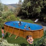 Family Eco Lux Wood pool oval 7,3x3,75m/1,32m (Liner: 0,4 mm)