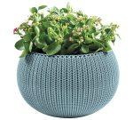 Cozies Medium betétes virágtartó akasztóval kék KETER
