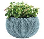 Cozies Small betétes virágtartó akasztóval kék KETER