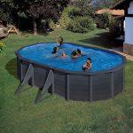 Family Eco Lux Graphite medence ovális 6,1x3,75m/1,2m fólia 0,4mm
