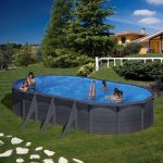 Family Eco Lux Graphite medence ovális 7,3x3,75m/1,2m fólia 0,4mm