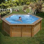 TIMBER favázas medence kerek 4,12x1,19m 4m3/h homokszűrős vízforgató 0,5mm fólia