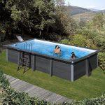 Kompozit medence szögletes 6,74x3,68x1,24m 5m3/h homokszűrős vízforgató fólia 0,6mm