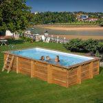 TIMBER favázas medence szögletes 6x4x1,33m 8m3/h homokszűrős vízforgató fólia 0,75mm