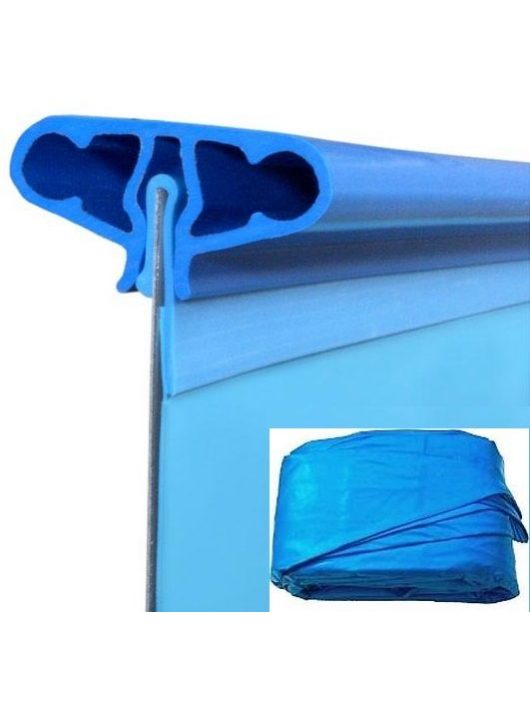 Medence pótfólia ovál 7,3 x 3,75 x 1,2m / 0,4mm akasztóprofilos GRE FPROV730