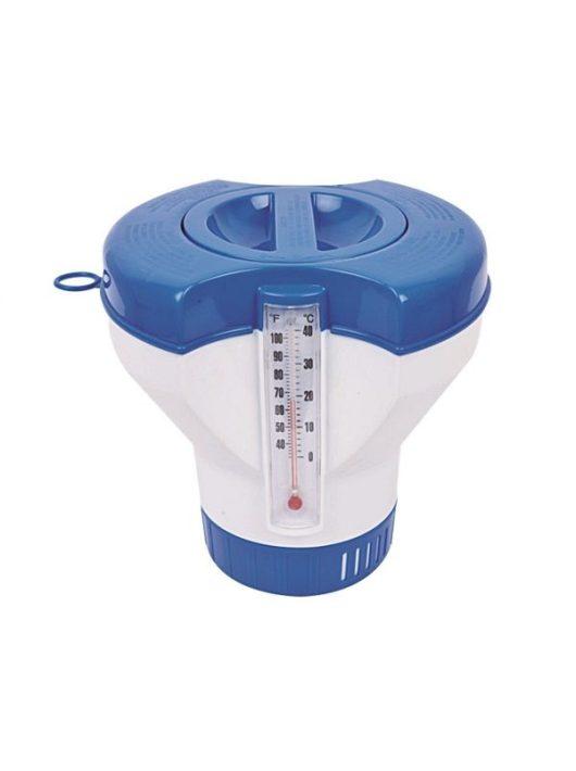 Úszó tabletta adagoló hőmérővel 200gr-os
